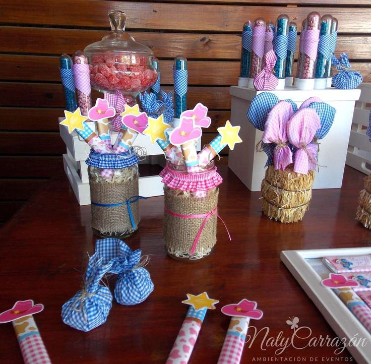 Fun favors at a Sheriff Callie birthday party! See more party ideas at CatchMyParty.com!