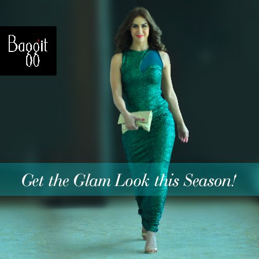 Grab everyone's attention this Festive Season carrying this exquisite golden clutch from Baggit's Autumn/Winter 15' Collection. Just like Lauren Gottlieb at Lakme Fashion Week, pair this with a bottle green gown, golden heels to be the ultimate glamorous diva like her. A wardrobe must-have, this one made from cruelty-free fabric will not let you down!  Available at all Exclusive Baggit stores and at www.baggit.com