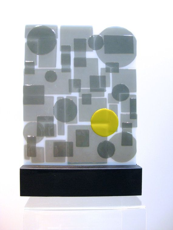 Abstract Art Glass-  I don't know if I can cut circles...  But I like the colors and composition.