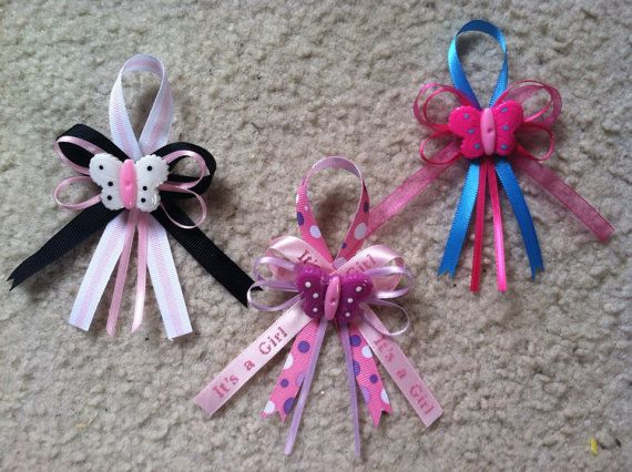 Mixed butterfly baby shower pins on Etsy, $20.00