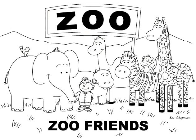 Zoo Animals Coloring Pages Kids