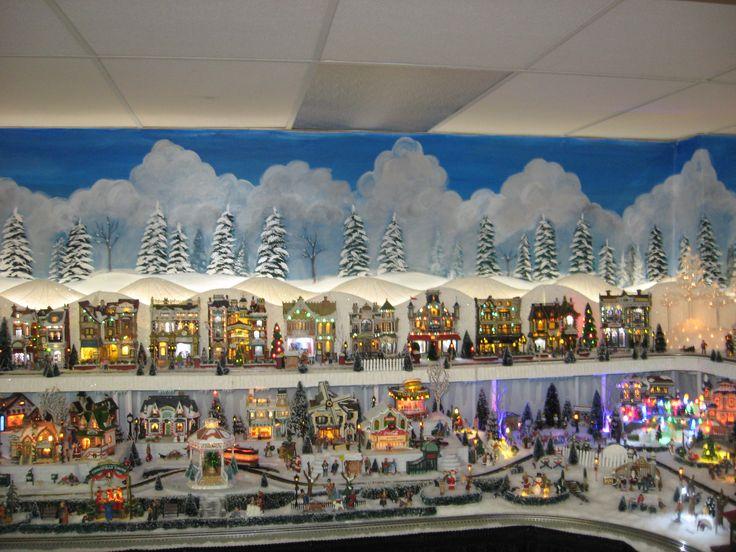 124 best Christmas VILLAGE Display Ideas images on Pinterest ...