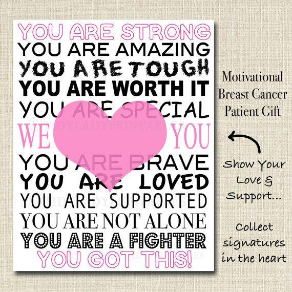 Inspirational Breast Cancer Patient Gift, Hospital Room Decor Motivational…