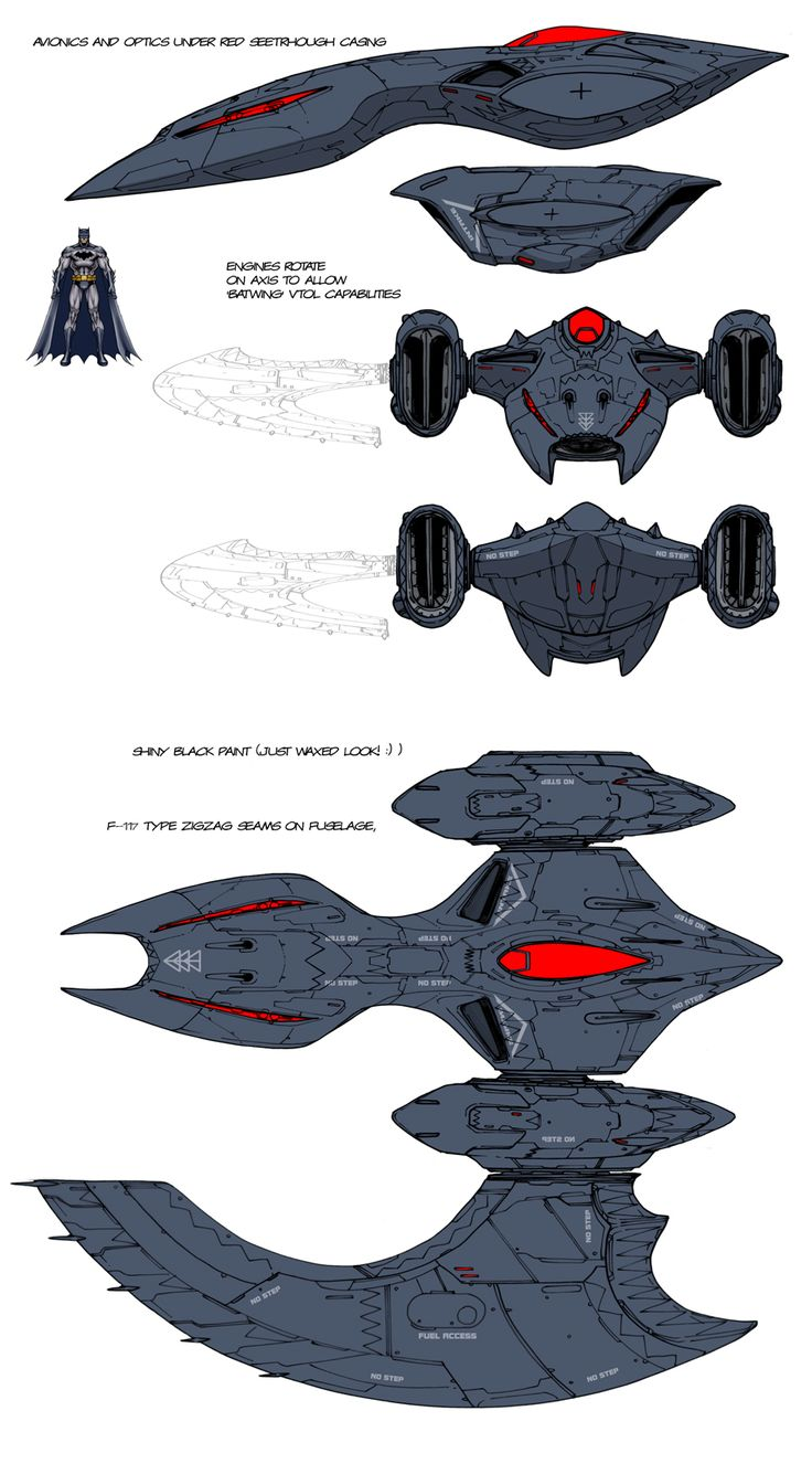 DCU MMO Batwing design by *Chuckdee on deviantART