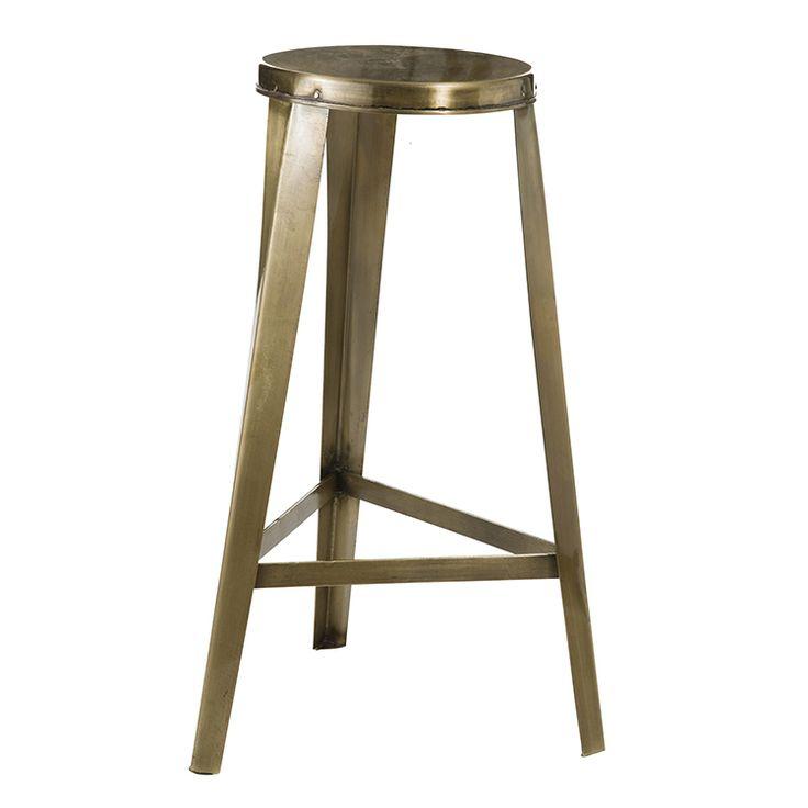 Madam Stoltz large brass stool, Mia Fleur
