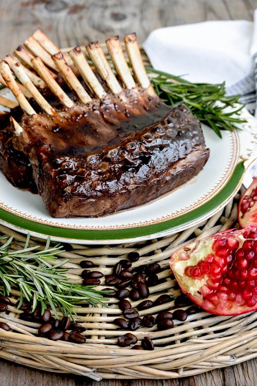 Rack of Lamb with Pomegranate-Coffee Sauce | www.floatingkitchen.net