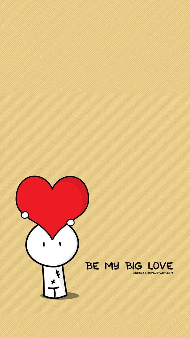 Wallpaper Para Iphone Be My Big Love Valentines Illustration Iphone 5s