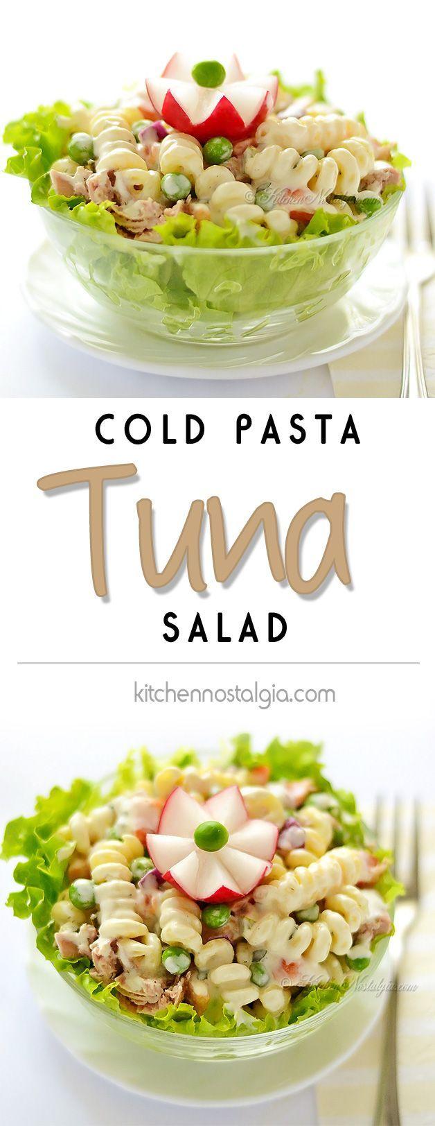 Cold Pasta Tuna Salad Recipe Nostalgia Picnics And Summer