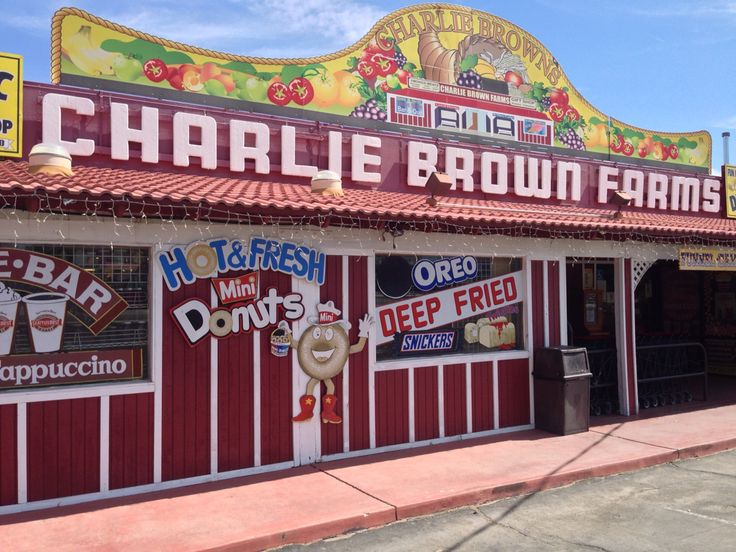 Charlie Brown Farms in Littlerock, Ca. 2015 (Photo by Cheryl Signorelli)  -Charlie Brown Farms started out as a fruit stand in 1929. Now located on six acres with one acre of parking, it's been a landmark on Pearblossom Hwy  in Littlerock, California ever since.