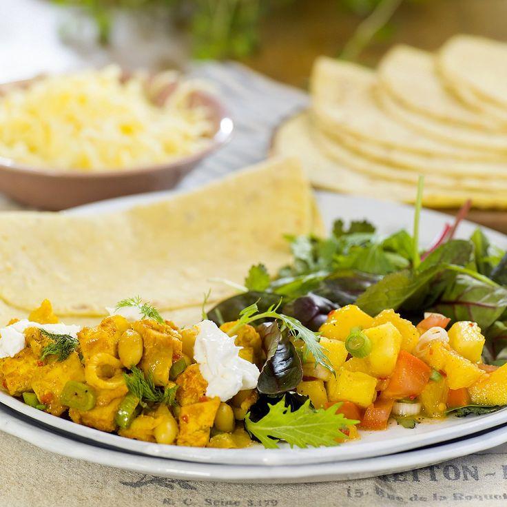 Kyllingtaco med appelsin- og mangosalsa