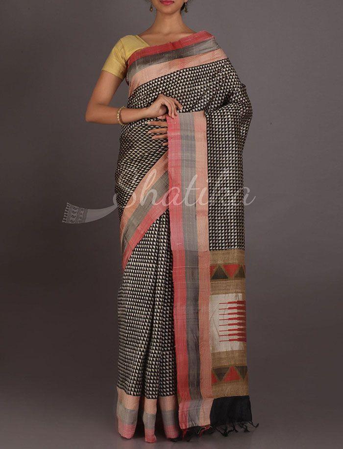 Samaira Trikon Fest Exclusive Hand Painted Silk Saree