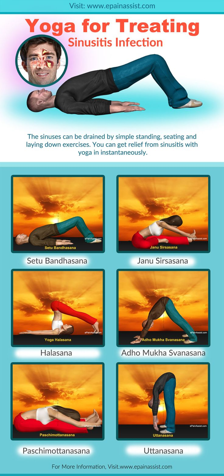Yoga for Treating Sinusitis Infection-Infographic - Erst nach dem positiven Selbsttest gepinnt :)