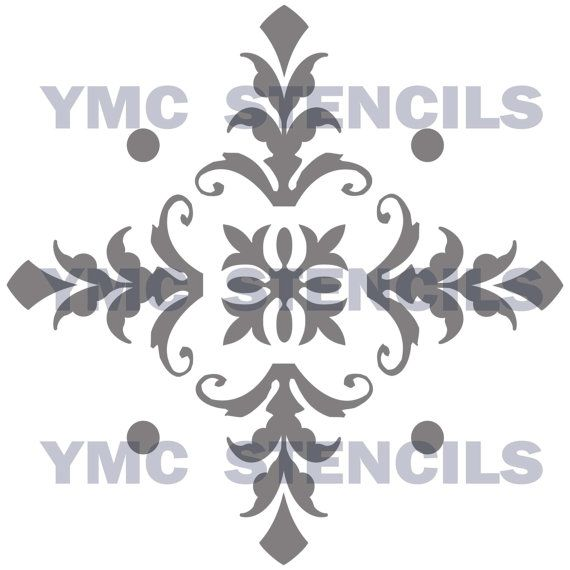 Damask+Diamond+Stencil++8x8+by+YourMemoriesCaptured+on+Etsy,+$18.00