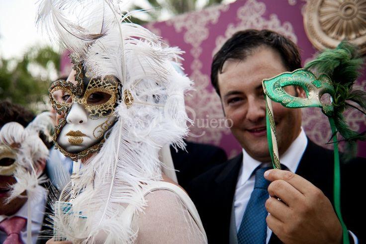 Baile de mascaras venecianas para el baile de boda · Si! Quiero wedding planner
