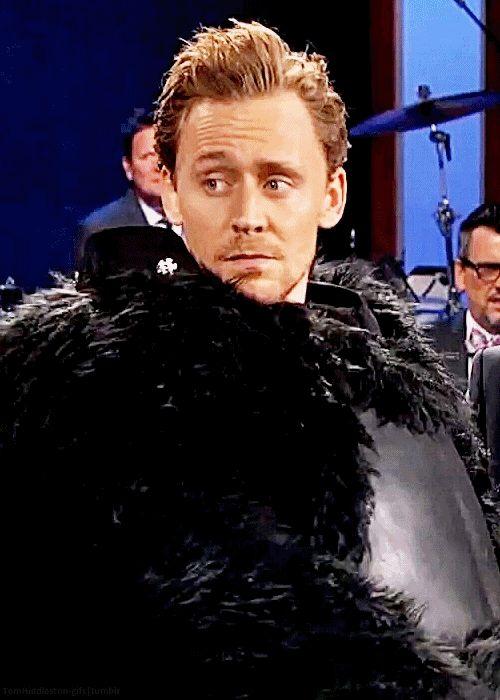 Tom Hiddleston dressed as Kong on Jimmy Kimmel Live. (gif by tomhiddleston-gifs: http://tomhiddleston-gifs.tumblr.com/post/153320971209/tom-hiddleston-dressed-as-kong-on-jimmy-kimmel