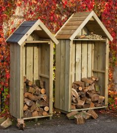 firewood shed on Pinterest | log store, firewood shed and logs