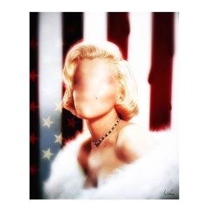 Faceless Marilyn 90x70 cm by Bisha Design