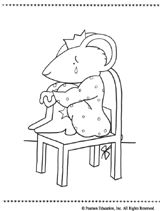 lillys coloring page sad - Chrysanthemum Book Coloring Pages