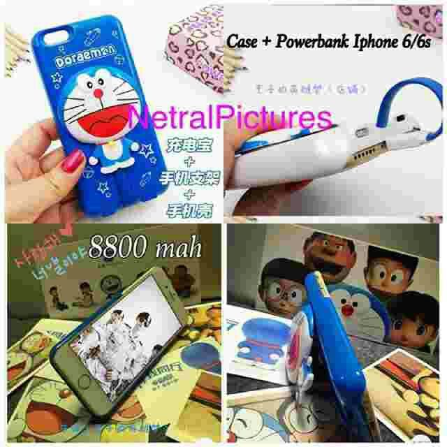 #case + #powerbank #doraemon for #iphone only 6 & 6s @ 230.000