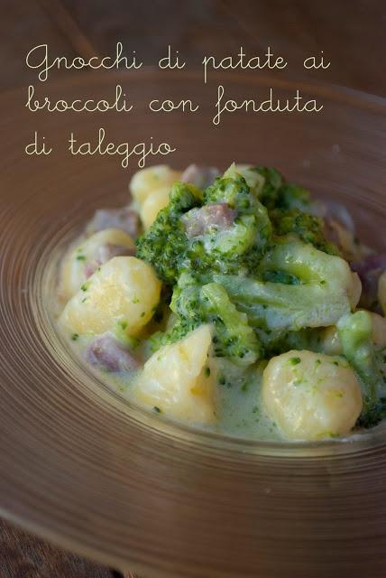 Mon petit bistrot: Gnocchi di patate ai broccoli con fonduta di taleggio