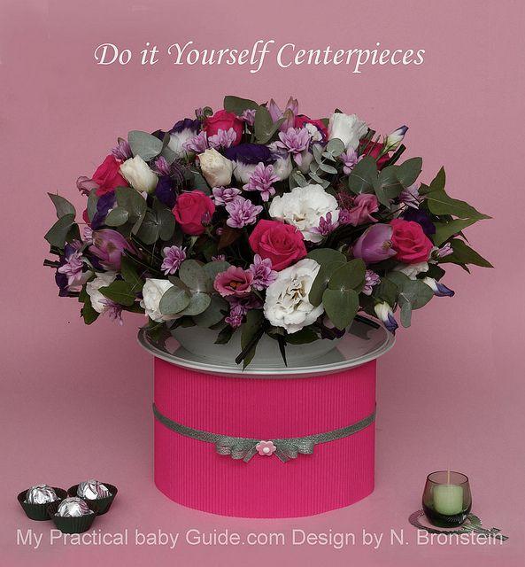 #DIY #Flower #Centerpiece For A #Girl #Baby #Shower!