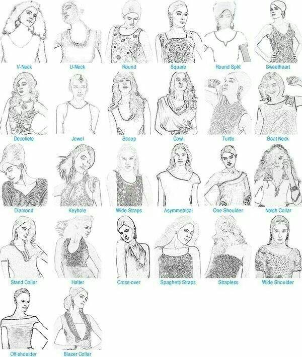 Different bodice types