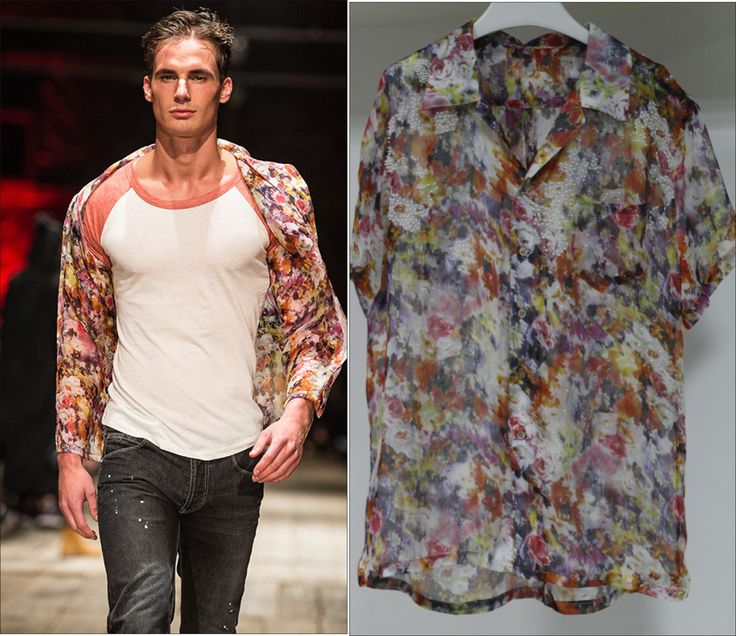 Printed Silk Beads Shirt For Men From Customer's Fashion Show
