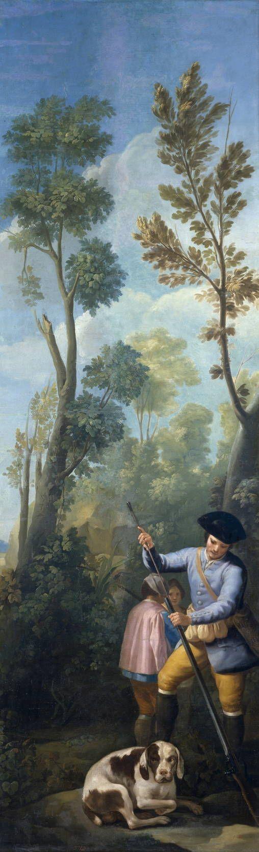 Goya en El Prado: Cazador cargando su escopeta. Museo del Prado. Madrid.