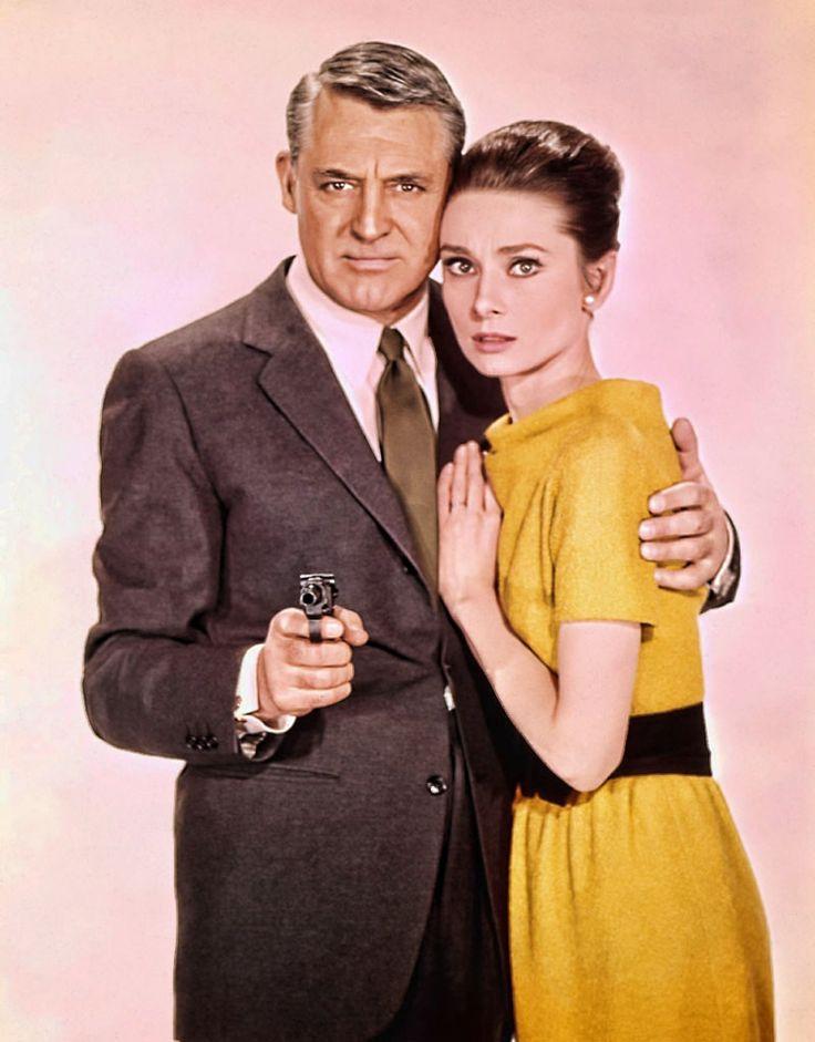 "Cary Grant y Audrey Hepburn en ""Charada"" (Charade), 1963"