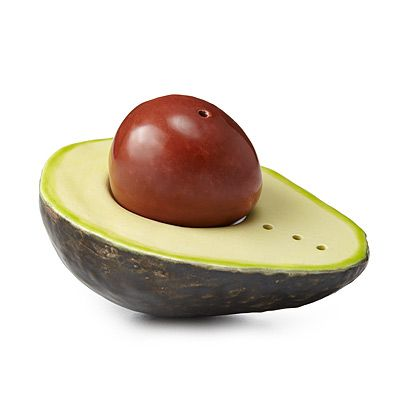Look what I found at UncommonGoods: avocado salt & pepper shakers... for $45 #uncommongoods