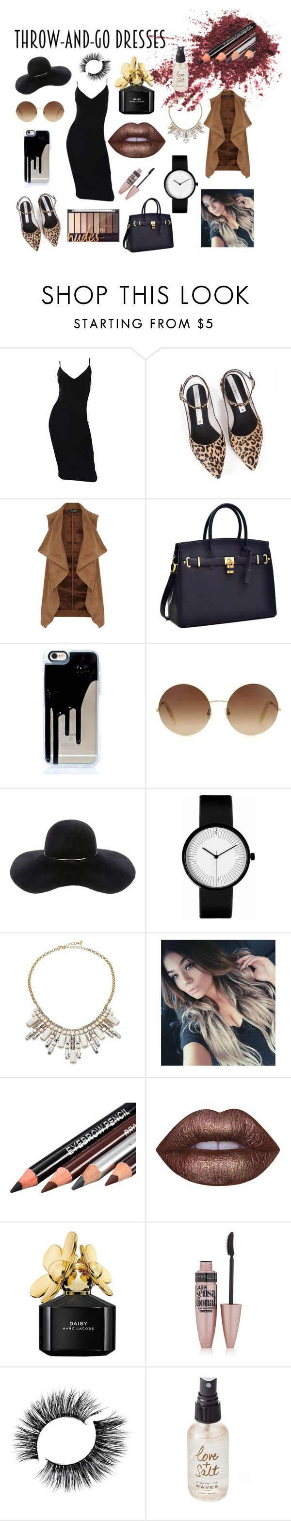 """""""rocker chic"""" by immy-medley ❤ liked on Polyvore featuring Michael Kors, Zolà, Dorothy Perkins, Victoria Beckham, Eugenia Kim, ABS by Allen Schwartz, Lime Crime, Marc Jacobs, Maybelline and Olivine"""