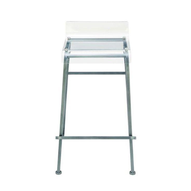 benzara metal grey and acrylic bar stool gray u0026 translucent - Clear Bar Stools
