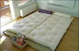 Shiki futon - traditional Japanese mattress. Less is more for me. I love the simplicity.