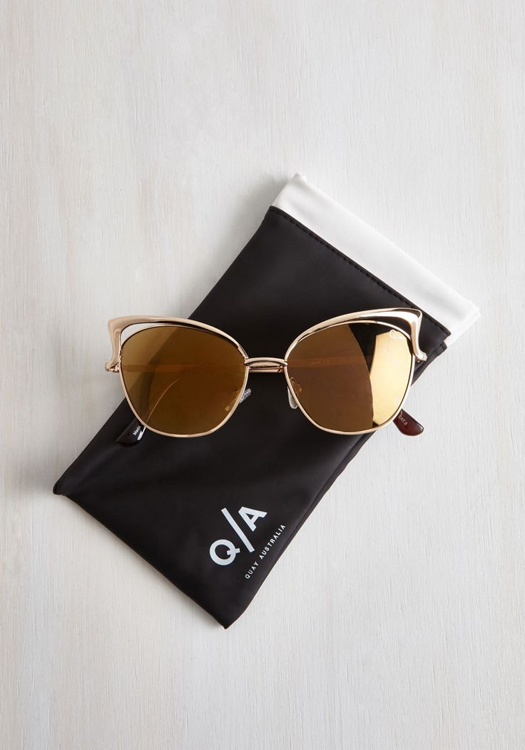 Lana del Sunrays Sunglasses. Who knew that UV protection could look so sophisticated? #gold #modcloth