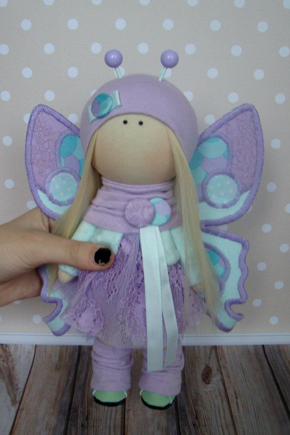 Anna Doll-Handmade Doll-Textile Doll-Fabric by GumeniukToys