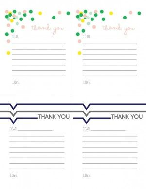 The  Best Printable Thank You Notes Ideas On