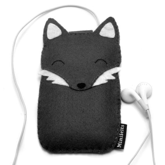 Wolf iPhone Sleeve Custom iPod Cover Cell Phone Case by minifelts, £20.00