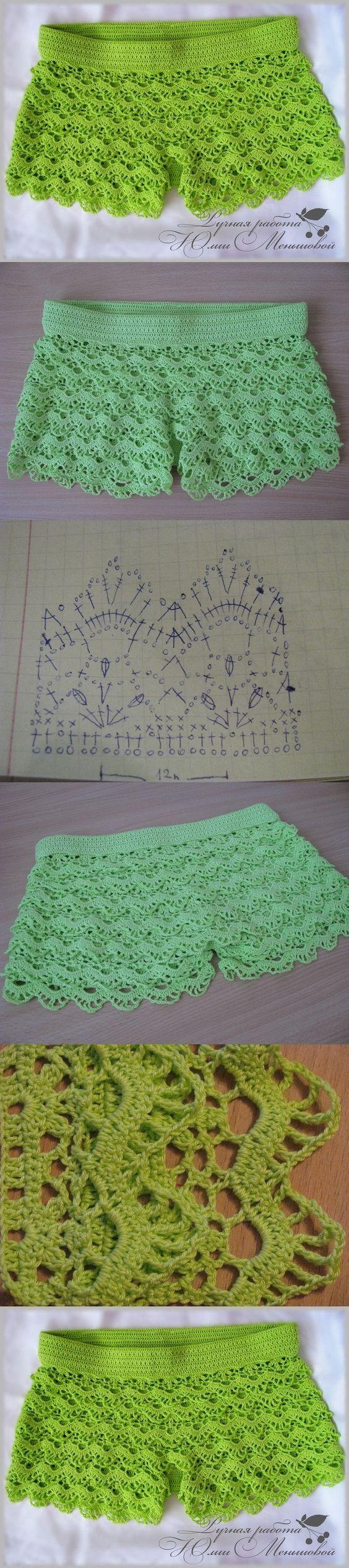 Crochet so beauty shorts, crochet pattern. http://make-handmade.com/2013/12/18/crochet-so-beauty-shorts-crochet-pattern/: