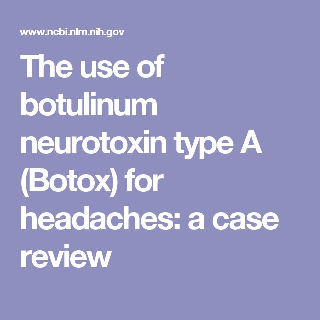 The use of botulinum neurotoxin type A (Botox) for headaches: a case review