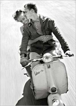 Lovers on a Motorbike Jean-Louis SWINERS