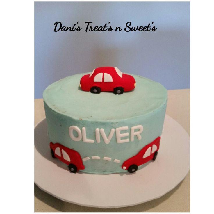 Little boys car cake