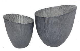 Glass Candle Cup (Large) Gunmetal/silver, 15x13cm $5.00 www.divineinspirations.com.au https://www.facebook.com/divineinspirations4u