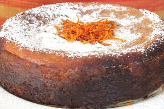 Claudia Roden's orange and almond cake recipe | I swap out the sugar for Rice Malt Syrup and halve the amount #iqs