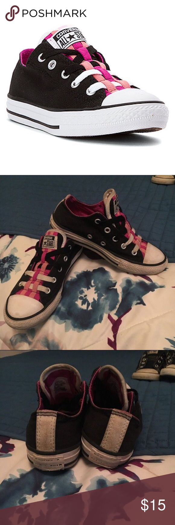 13 kids converse I day sale Really cute a little dirty but in good condition Converse Shoes Sneakers