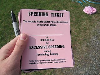 "SPEEDY WORKERS?  ""Ticket"" students who finish quickly and miss a lot of problems.  Over time, repeat offenders may lose their ""license"" to participate in fun activities!"