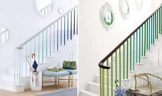 Ombre painted stairs