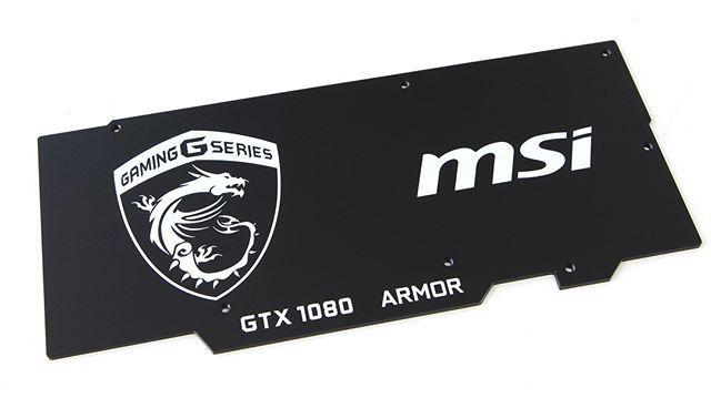 Msi GTX 1060 Armor Gpu Backplate