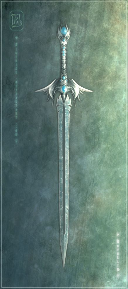 Marielle's sword, Jasper. Encrusted with moonstones, a gift from the goddess, Selune.  [Rothelim by *Aikurisu on deviantART]