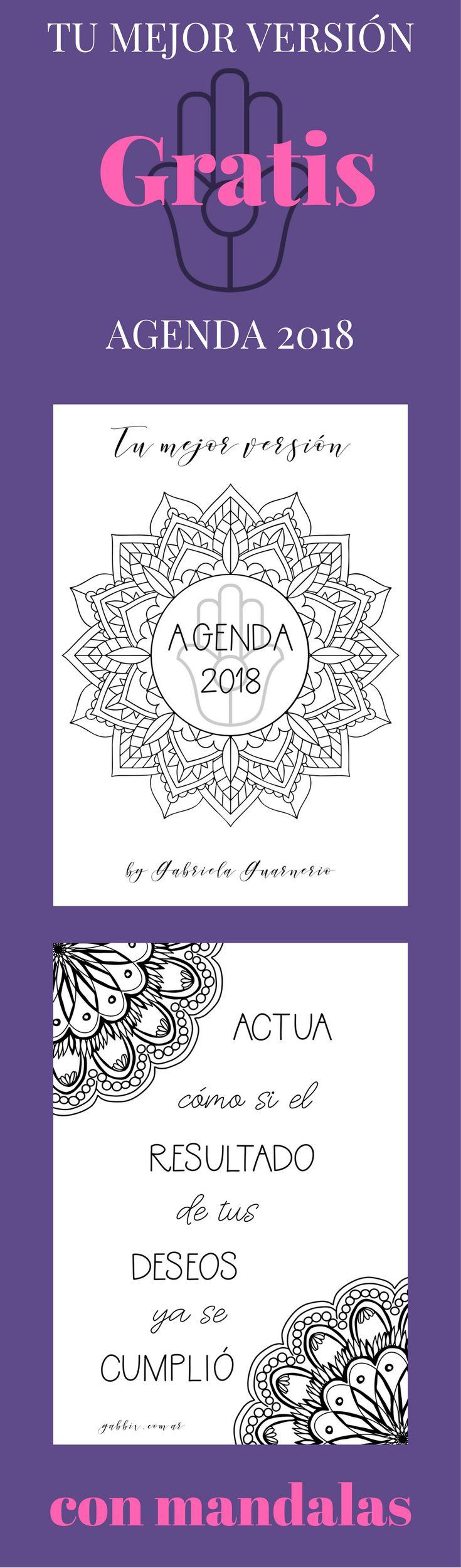 Descarga GRATIS mi agenda 2018 con mandalas para colorear cuando te suscribis a mi lista. recibi actualizaciones gratuitas todos los meses y consejos e ideas de como vivir tu mejor versión.