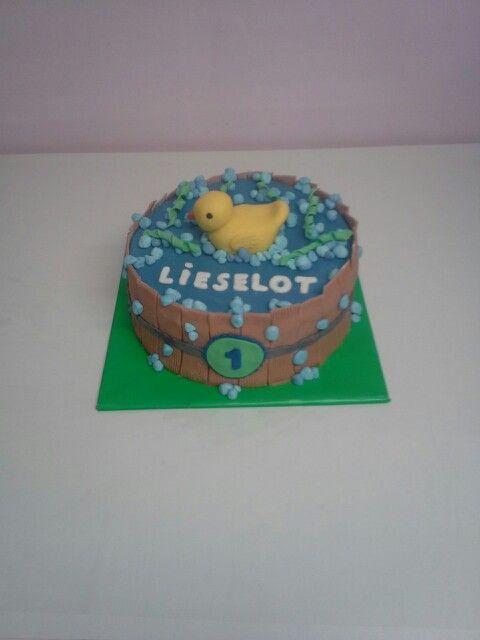 Badeend taart